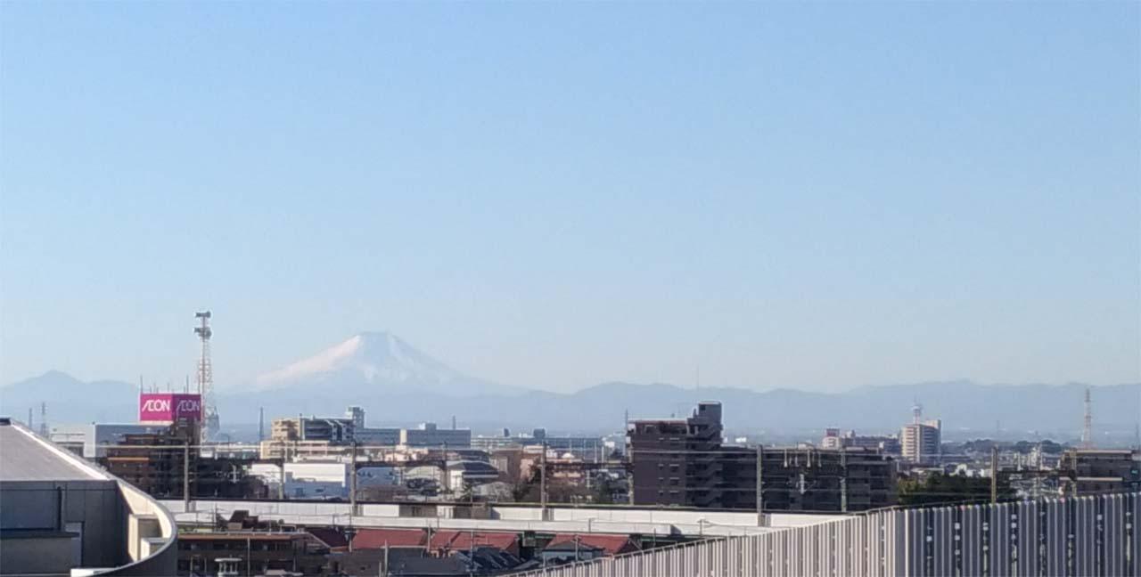 さいたまからの富士山201712